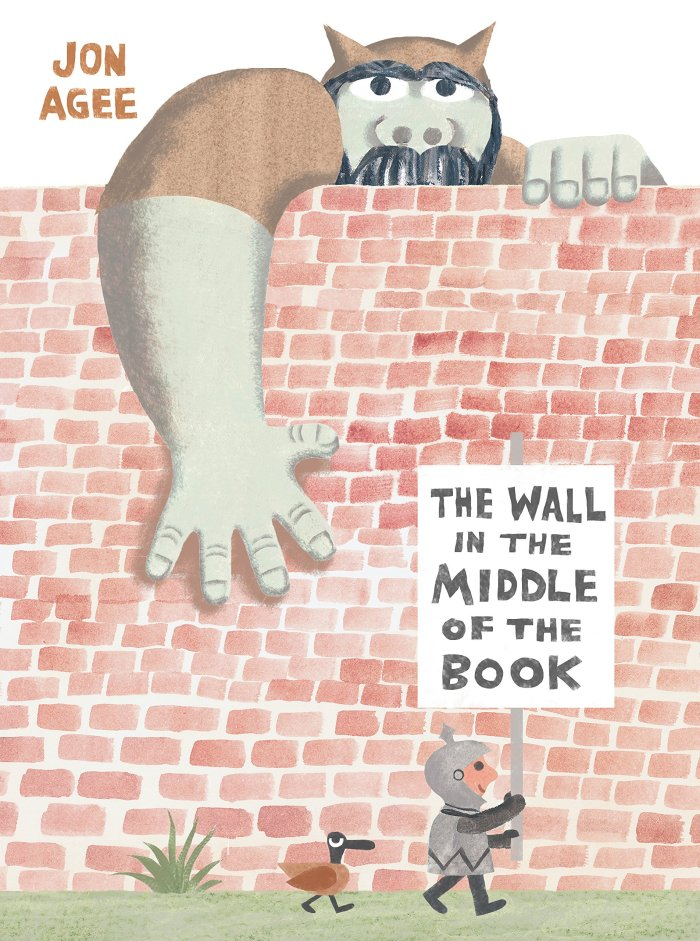 The wall in the middle of a book